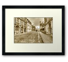Merton Street Oxford Framed Print