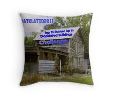 Dilapidated Buildings Banner Throw Pillow