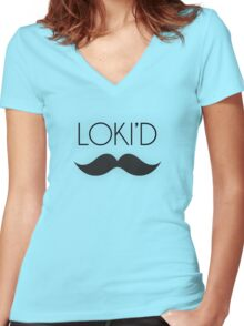 Loki'D like a Sir Women's Fitted V-Neck T-Shirt