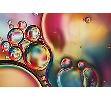 Bubblicious Rainbow Abstract Photographic Print