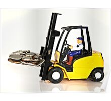 Forklift and Money Poster
