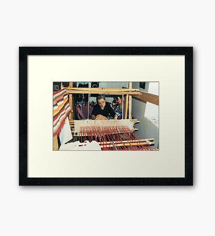 Penelope At Her Loom Framed Print