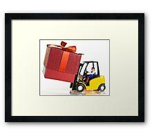 Fork lift and gift Framed Print