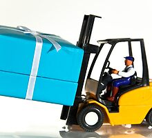 Fork lift and gift by Norma Cornes