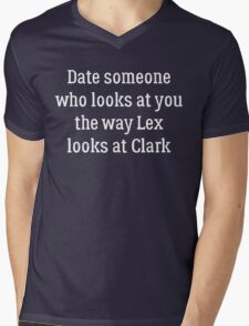 Date Someone Who - Clex Mens V-Neck T-Shirt