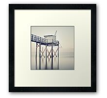 Fishing Hut Framed Print