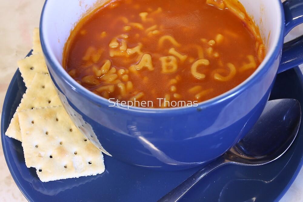 Alphabet soup by Stephen Thomas