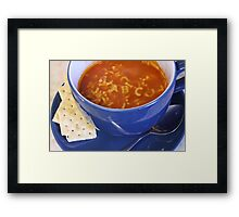 Alphabet soup Framed Print
