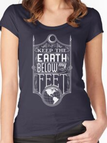 Mumford Typography (earth) Women's Fitted Scoop T-Shirt