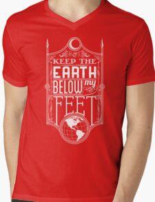 Mumford Typography (earth) Mens V-Neck T-Shirt
