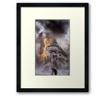 Napalm On Windmill Framed Print