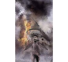 Napalm On Windmill Photographic Print