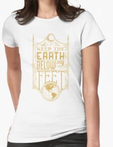 Mumford Typography (earth)(gold) Womens Fitted T-Shirt