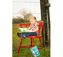 the red chair Photographic Print