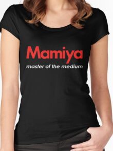Mamiya Photography Logo Women's Fitted Scoop T-Shirt