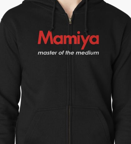 Mamiya Photography Logo Zipped Hoodie