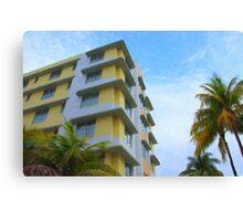 South Beach Hotels Canvas Print