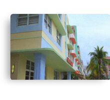 Ocean Drive Hotels Canvas Print