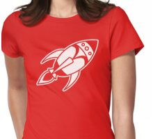 Retro Rocket Womens Fitted T-Shirt