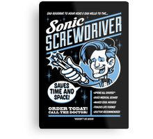 Sonic Screwdriver Ad Metal Print