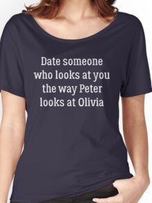 Date Someone Who - Polivia Women's Relaxed Fit T-Shirt