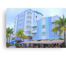Blue Hotels Canvas Print