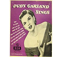 JUDY GARLAND SINGS ~ EARLY 1950'S 45 BOX SET Photographic Print