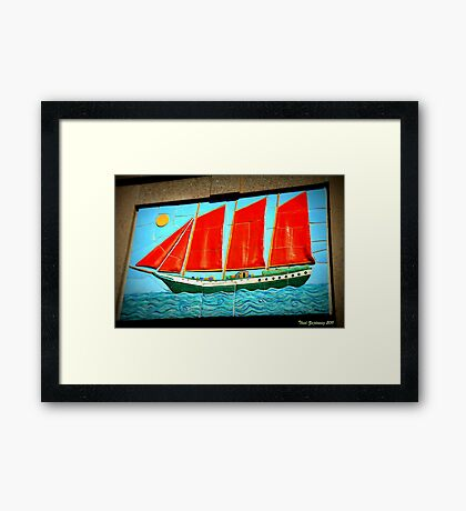 Sailing ship Framed Print