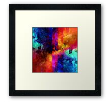 triangle space oil painting Framed Print