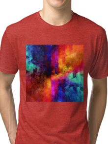 triangle space oil painting Tri-blend T-Shirt