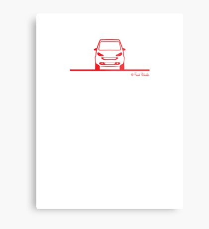 Smart 4 Two Front Red Metal Print