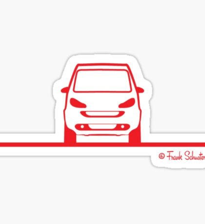 Smart 4 Two Front Red Sticker