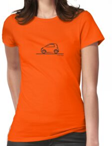 Smart 4 Two Side BLK Womens Fitted T-Shirt