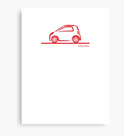 Smart 4 Two Side Red Canvas Print