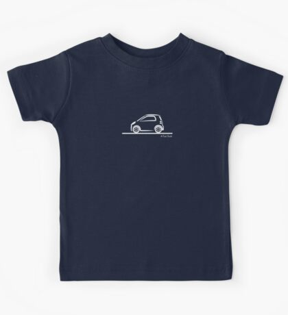 Smart 4 Two Side White Kids Tee