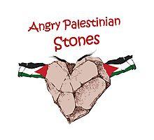 Angry Stones of Palestine Photographic Print