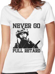 Never Go Full! Women's Fitted V-Neck T-Shirt
