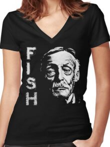 Something's Fishy.. Women's Fitted V-Neck T-Shirt