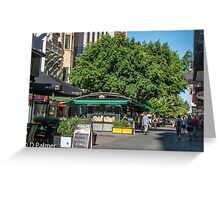 Rundle Mall - inside the mall Greeting Card