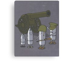 Cannon fodder. Canvas Print