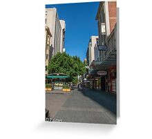 Rundle Mall - Tall buildings Greeting Card