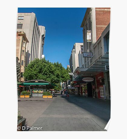 Rundle Mall - Tall buildings Poster
