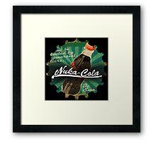 Fallout Nuka Cola green cap logo Framed Print