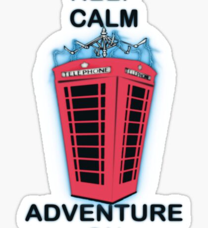 Keep Calm Adventure On Sticker