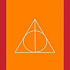 The Deathly Hallows (In Orange) by PiranhaCakes