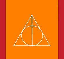 The Deathly Hallows (In Orange) by PiranhaCakes