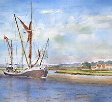 Thames Barge at Maldon by HurstPainters