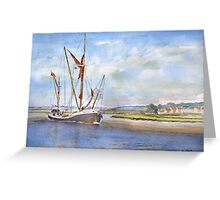 Thames Barge at Maldon Greeting Card