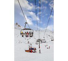 Ski Lift  Photographic Print