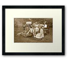 Vintage Picnic Framed Print